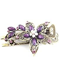 Nouvelle belle Jelinda Vintage Fleur en cristal Barrettes Épingles à cheveux