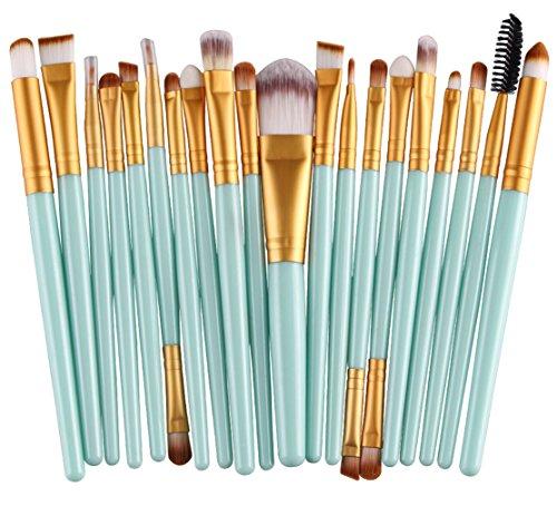 Bigood 20Pcs Maquillage Outils Pinceau Professionnel Brosses Cosmétique Beauté
