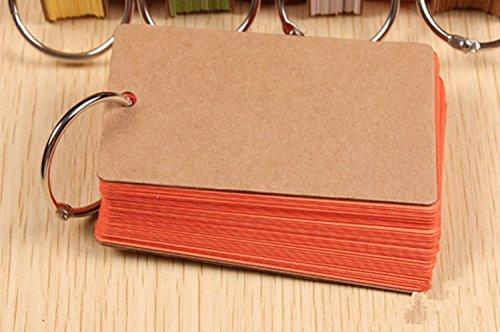 Lenhart - Confezione da 2raccoglitori ad anello per flash card e appunti di studio, con 50 pagine vuote senza righe e facili da girare Orange