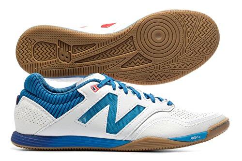New Balance Audazo Pro Indoor - Chaussures de Foot - Blanc/Bleu Electrique