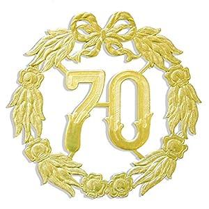 kunze a013060701aniversario número 70, diámetro 18cm, Oro