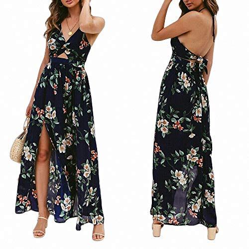 Bob Marley-tie Dye (FeiXing158 Mode Blumen Lange Maxi-Kleid rückenfreie Kleider Sommerferien Kleid)