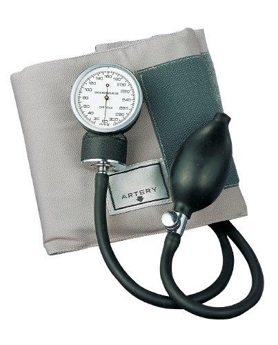 ADC 770-11AG prosphyg Pocket Aneroid Sphygmomanometer with Erwachsene Blutdruckmanschette schwarz Tragetasche, Grau -