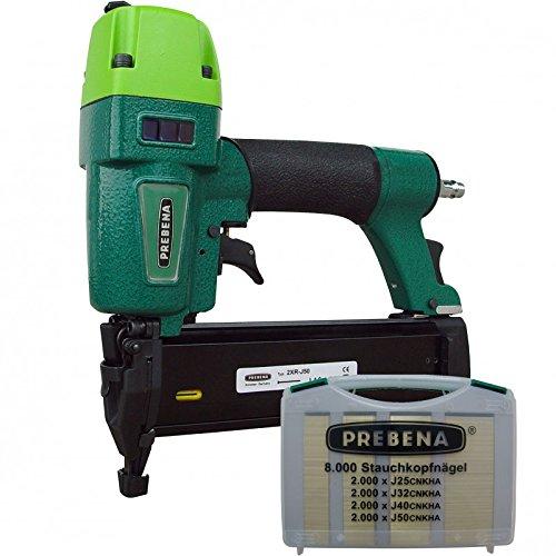 Preisvergleich Produktbild PREBENA Druckluftnagler 2XR-J50 Kombi-Set incl. Stauchkopfnägel