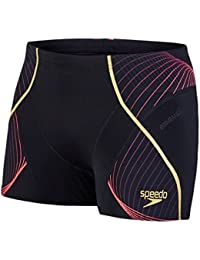 Speedo-fit Masculine Pinnacle Aqua Rouge Courte, Noir / Psycho / Or