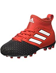 adidas Unisex-Kinder Ace 17.3 Ag J Futsalschuhe, Rot / Schwarz