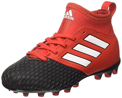 adidas Ace 17.4 Sala In, Chaussures de Football Mixte Enfant Rouge (Red/ftw White/core Black)