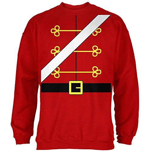 Weihnachten Spielzeug Soldat Nussknacker Kostüm Herren Sweatshirt rot MD (Nussknacker Kostüm)