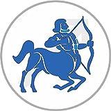 8 cm - rund geschnitten - Autoaufkleber Schütze Sticker Aufkleber fürs Auto Motorrad Decal Sternzeichen Horoskop Sternkreiszeichen