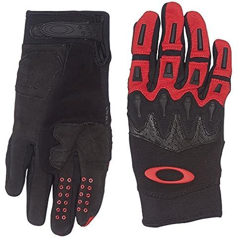 Oakley Overload - Guantes, color rojo, tamaño medium