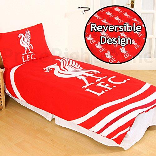 Offizielle Liverpool-FC-Fußballbettwäsche Bettwäsche-Set Wendbar, 48 % Baumwolle / 52 % Polyester, Bedding - Pulse Duvet, Einzelbett