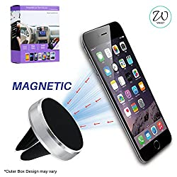 West7 Premium Magnetic Mobile Phone Holder For Car Ac Vent. Car Phone Holder/Car Mobile Stand/Air Vent Mount/Car Mobile Holder for Car Ac Vent compatible with all Smartphones with 360 rotation.