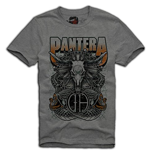 E1SYNDICATE PANTERA T-SHIRT METALLICA METAL ROCK DIMEBAG DARREL S/M/L/XL GREY