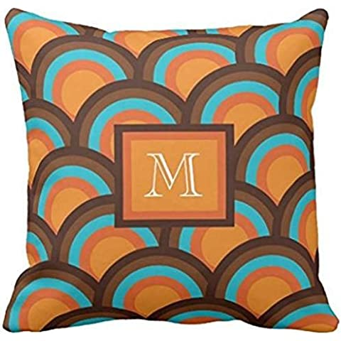Circle Pattern, Monogram Pillow - colored trio case 1818