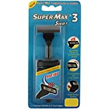 Super Max 3 Swift the Pioneer in the Triple Edge Disposable Razor - 1 System Handle and 5 Cartridges