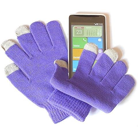 PRESKIN (-Guantes talla única,) tamaño pequeño, diseño de la función inteligente para la mujer, los niños, adolescentes y los guantes NEON teléfono móvil para Phone para Tablet Samsung Galaxy S4, S4, S3, 2, 3, en la nota a pie de página 3, S4 mini, Motorola Moto G, diseño de Moto X, M2, E1, Nokia XL, X, Lumia 1020, 920, 1020, LG L90, L70, DG 955 G Flex, G2 mini G6 Huawei Ascend Y300 P7, Y530, iPhone 5S, 5C, 5, 4S, 4, HTC One, Lenovo, Odys IEO, Google Nexus, Asus Transformer Pad, Intenso, Acer, Sony, Apple iPad Air 4