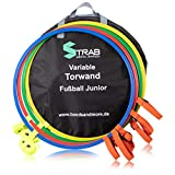 STRAB Premium Fußball-Torwand - Perfekt für effektives Training im Fußball (Einfacher Auf- und Abbau) (4 Ringe (Ø 70 cm))