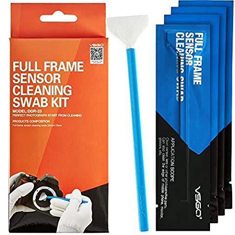 VSGO Kit de Nettoyage pour le capteur de l'appareil photo full-frame Nettoyage Professionnel Pour Appareil Photo Reflex et Électroniques Sensibles