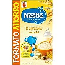 NESTLÉ Papilla 8 cereales con Miel - Alimento para Bebés