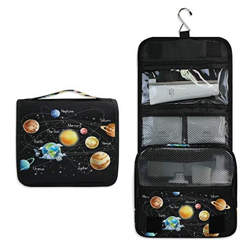 DOSHINE Universum Galaxy Space Solar System Hängende Kulturtasche Kosmetiktasche Große Aufbewahrungstasche Kosmetiktasche für Frauen Mädchen Reisen Badezimmer (Hängende Solar System)