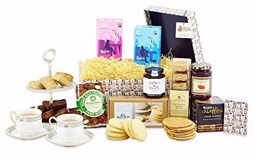 British Afternoon Tea Hamper - Free Express UK Delivery - Luxury Artisan High Tea Gift Basket