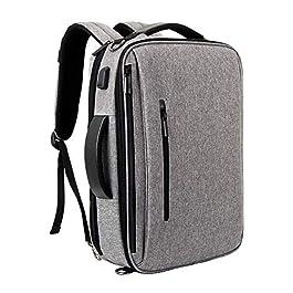 15.6 Pollici Zaino per Laptop,Antifurto Zaino per PC Portatile,Zaino Porta PC Impermeabile,3 modalità di Trasporto per Laptop,con Presa Ricarica USB Zaino Casual per Viaggio/Lavoro/università,Grigio