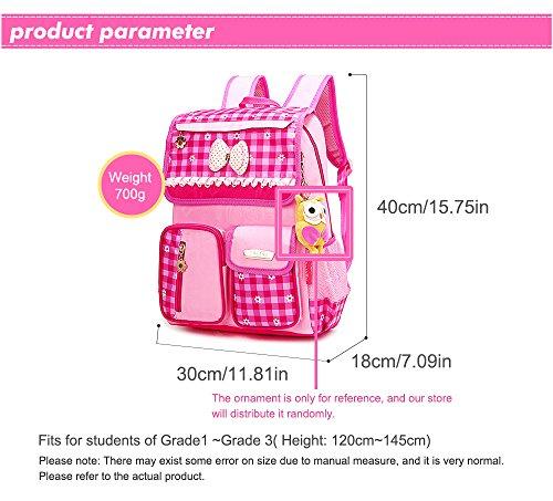 EssVita Kid Child Princess Style School Bags Backpack Waterproof Grils School Rucksack for Primary Students (Style A Pink)