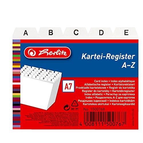 Herlitz 1500768 Karteiregister A7