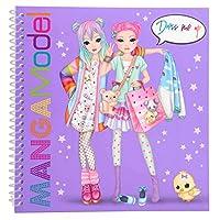 Depesche 6585 Colouring Book Dress Me Up Manga Model Multicoloured