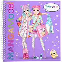 Depesche 6585–Libro para Colorear Dress Me Up Manga Model