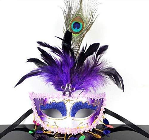 Horror Maske Venezianische Maskerade Fashion Party Pailletten Quaste Pfaumaske Frauen Halloween Weihnachten Kostüm Ball Festliche Masken @ B