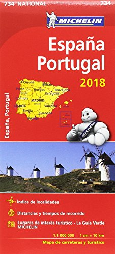 Mapa National España - Portugal (Mapas National Michelin) por MICHELIN