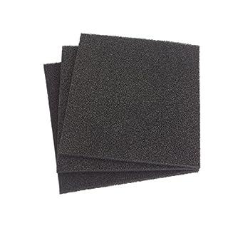Aktivkohle 2 x 1 m x Dicke ca. 5mm PPI 30 Aktiv-Kohlefilter Universal Aktivkohle Schaumstoff Filter - geeignet für verschiedene Luftanwendungen zuschneidbar Abluft mittel-fein Filtermatte Filterschaumstoff Universal Fettgeruch Kohlefilter Aktivkohle Küche Bad Belüftung Geruchsfilter Büro Lüftung