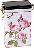 ROSE GARDEN - Traditional Style - Rectangular Coffee Tin / Tea Caddy / Kitchen Storage Tin/Canister - hermetically sealed