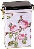 Rose Garden–traditional Style–rettangolare in latta per caffè/tè Caddy/Kitchen Storage Tin/canister–chiusura ermetica