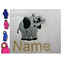 Bambini Accappatoio con cappuccio con un elefante Baby Logo e