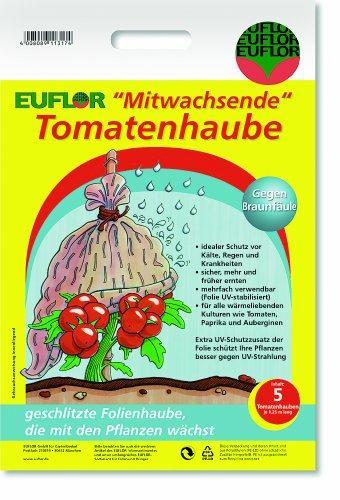 Euflor 90022 Tomatenhaube mitwachsend 5 Stück UV-stabil