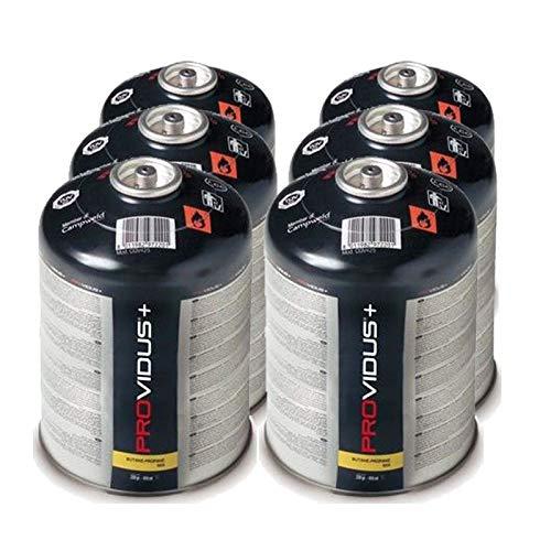 Pack von 6Kartusche Gas 425g Butan Propan Mix–Flasche von Gas Ventil 770ml–Korbflasche mit für Unkrautbrenner