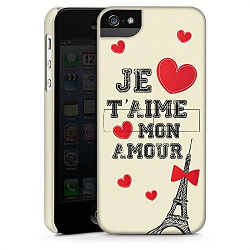 Apple iPhone X Silikon Hülle Case Schutzhülle Herz Spruch Mon Amour Premium Case StandUp