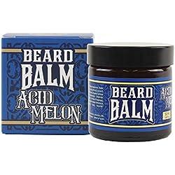 HEY JOE - Beard Balm Nº3 ACID MELON 50ml | Balsamo para barba 50ml con ARGÁN, JOJOBA, COCO y manteca de KARITÉ. Aroma a MELÓN