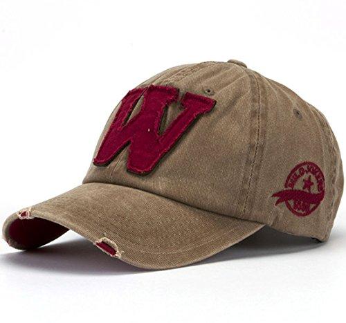 Thenice Cappellini da baseball Unisex Regolabile Berretto Cap (Cachi)