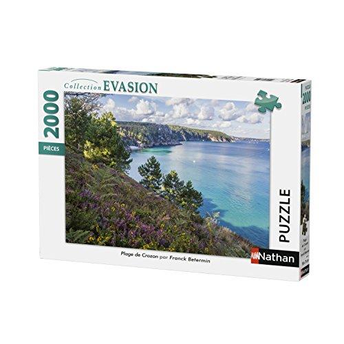 Nathan-Puzzle Playa de Crozon 2000Piezas, 87879