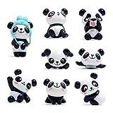 Muovst - Imanes de panda bonitos y divertidos para la nevera, para la oficina, para pizarras blancas, para pizarras de borrado en seco para el colegio, decorativos para el hogar, Negro, blanco