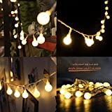 Globe String Lights,Indoor Outdoor LED Christmas Fairy Starry lights 16ft 50 Warm White LED Balls Battery Operated for Garden,Home,Wedding,Xmas Tree,Party,Bedroom by Dupad Story