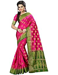 Dwarkesh Fashion Women's Latest Designer Party Wear New Collection Pink Nylon Bollywood Saree For Women With Unstitched...