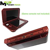 New Nintendo 3DSLL (Japan) / 3DS XL 3DSXL (Europe) - Mugen Power 6250mAh Extended Battery 8-12 play time hours no includes game console 1 Year Warranty (New Red Cover) (Red)