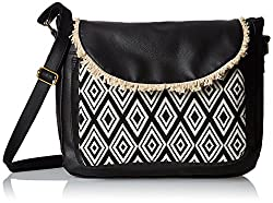 Kanvas Katha Womens Handbag (Black) (KKSMX006)