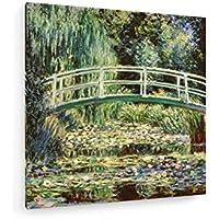 Monet Nympheas / Bianco / 1899 - 120x120 cm - weewado - Belle stampe d