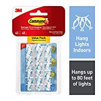 Command Clear Decorating Clips with Clear Strips Value Pack (17026CLR-VP)