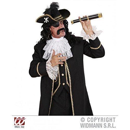 Lively Moments Aufwendig verzierter Piratenhut mit Feder und Goldborte